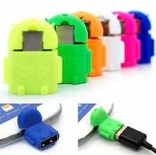 Mini Robot Micro USB Host OTG Adapter Cable for Samsung Galaxy S6 Note5 HTC New