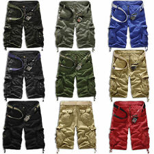 Men's Army Cargo Combat Camo Camouflage Overall Shorts Sports Pants Trousers New