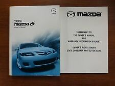 2006 Mazda 6 Mazda6 Owner's Owners Manual with Case
