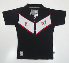 Kukri Womens Retro Hong Kong Sevens 2008 Black Polo Shirt