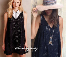NEW Anthropologie Eyelet Swing Dress by Maeve sz S M Cotton Eyelet Adorable Cute