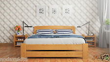 New Solid Wooden Pine Double Bed Frame 4ft6in Underbed Storage Bedside Cabinet