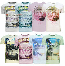 Soul Star New Men's City Print T-shirt Graphic Printed Fade Design Cotton Tee