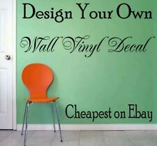 Personalised Wall Sticker - Design Your Own Quote - Home Family Children Room