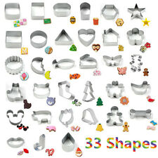 SALE DIY 33 Shapes Metal Cookie Biscuit Tin Cake Bake Cutter Bake Mold Home Tool