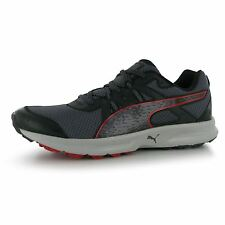 Puma Descendan Trial Running Shoes Mens Black/Red Fitness Trainers Sneakers