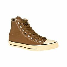 Converse All Star Hi Wash Twill Trainers Mens Timber Brown Sneakers Shoes
