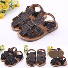 Baby Toddler Boys Summer Casual Sandals Infant Non-slip PU Soft Shoes 0-12M