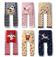 Girl Boy Baby Kids Toddler Baby Bottoms Cartoon Leggings Knit PP Pants Comfy