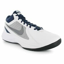 Nike Overplay VIII Basketball Shoes Mens White/Grey/Nvy Trainers Sneakers