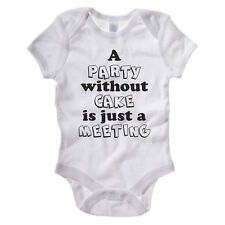 PARTY WITHOUT CAKE - Cupcake / Baking / Bake / Funny Gift Idea Baby Grow / Suit