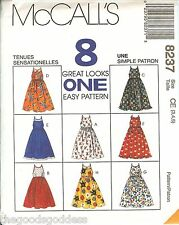 McCalls 8237 Girls 8 Looks Easy Sundress Dress sewing pattern UNCUT FF summer