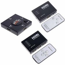 3/5 Port 1080P HDMI Switch Selector Switcher Splitter Hub Remote for PS3 HDTV US