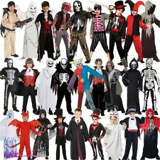 BOYS HALLOWEEN GHOST ZOMBIE VAMPIRE DEVIL SKELETON POTTER FANCY DRESS COSTUME