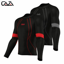 Baselayer Compression Armour Mens Long Sleeve Sports Shirt Running Top