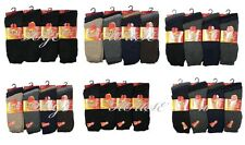 12Prs Men's Acrylic B/F  SOCKS THERMAL WARM WINTER WALKING THICK SPORTS WOOL