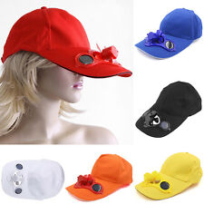 Solar Powered Fan Hat - Cooling Baseball Cap Traveling Sports Camping Outdoor