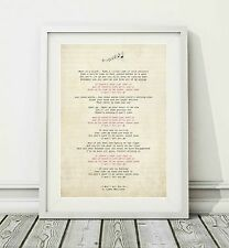 172 James Morrison - I Won't Let You Go - Song Lyric Poster Print - Sizes A4 A3