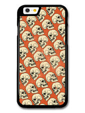 Skull Pattern in Hand Drawn Style on Burnt Orange case for iPhone & Samsung