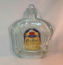 Melted flat fused Crown Royal liquor bottle