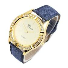 GENEVA High Quality Womens Wrist Watch Crystal Stainless Steel Analog Dail Watch