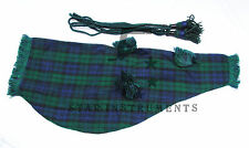 NEW BAGPIPES COVER (MACKENZIE WITH GREEN FRINGE)100% MACKENZIE TARTAN WITH CORDS