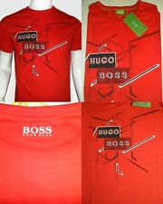 HUGO BOSS Men's Green Label Crew Neck100% Cotton Short Sleeve Red Color T Shirts