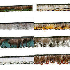 Hackle pheasant Feather Fringe Trim 1or 5 yards Sewing DIY Crafts Feather