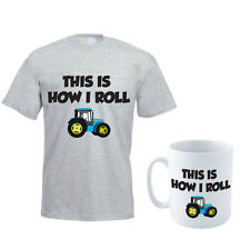 THIS IS HOW I ROLL - Farmer / Tractor/ Funny Gift Idea Men's T-shirt & Mug Set