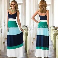 Sexy Lady Summer Boho Chiffon Long Maxi Evening Party Dress Beach Holiday Casual