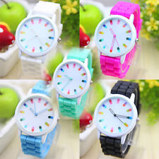 New Fashion Unisex Color Silica Jelly Gel Quartz Simple Wrist Watch Gift