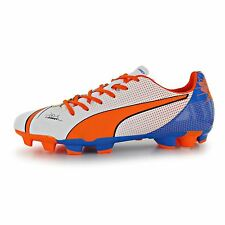 Puma EvoPower Pop 4 FG Firm Ground Football Boots Mens White/Orn Soccer Cleats