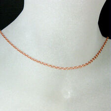 Rose Gold Plated Sterling Silver Necklace,Bracelet,Anklet-Rolo Chain 2mm