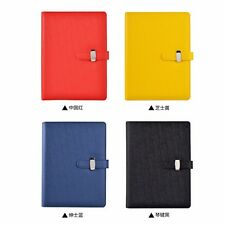 A5 Loose Leaf PU Leather Buckle Planner Notebook Diary Journal Pen Holder #B99