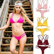 Sexy Women Push Up Padded Brazilian Bikini Set Biquini Swimwear Beach Swimsuit