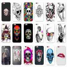 Black Pattern Skull Skeleton Design Soft Slim Case Cover Skin for iPhone&Samsung