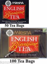 Mlesna English Breakfast Tea 50, 100 Tea Bags - PREMIUM CEYLON TEA BAGS