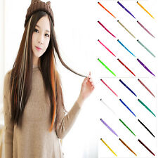 1pcs Women 12 Color Long Straight Synthetic Clip in on Hair Extensions Piece