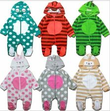 Baby Kids Boy Girl Warm Infant Romper Jumpsuit Bodysuit Hooded Clothes Outfit