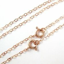 Rose Gold plated Sterling Silver Chain Necklace- 2mm Flat Cable Link-All Sizes