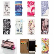 Hybrid Leather Card Hold Wallet FLIP STAND TPU Cover Back Case For Apple iPhone