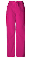 Scrubs Cherokee Workwear Men's Drawstring Cargo Pant Tall 4100T RASW Raspberry