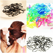 300pcs Fashion Rubber Hairband Rope Ponytail Holder Elastic Hair Band Ties