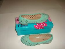 KID FASHION SHOES STYLE  BALLET FLATS DRESS SHOES COLOR MINT C-4 ( SPRING SALE )