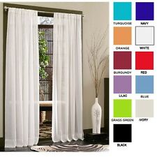 "Set of 2: Diana Elegant 84"" Sheer Curtain Panels by RC Collection"