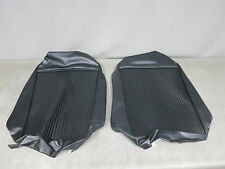 NEW Black Vinyl Seat Cover Backs for 1961 Corvette