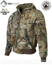 DRI DUCK - Realtree Camo - Hooded Camouflage Jacket - Canvas Quilt Lining - 5020