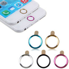 Metal Home Button Ring Circle Cover Sticker Skin For Apple iphone 5S 6 6Plus WS