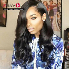 7ABody Wave Indian Remy Human Hair Full Lace Wigs/Lace Front Wigs Bleached Knots