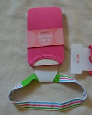 Gymboree TURTLE MATCH Headband or Pink Footless Tights NWT